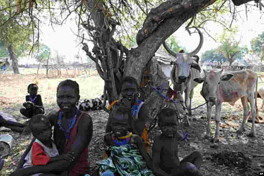 Internally displaced persons rest in Pibor, Jonglei state in Jan. 2012 after fleeing the surrounding areas following a wave of ethnic violence. A new wave of clashes in July 2013 between the Lou Nuer and Murle has displaced thousands and left an unknown number wounded or dead, according to Human Rights Watch.