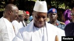 L'ancien président gambien Yaya Jammeh à Banjul, en Gambie, le 13 janvier 2017. (Photo REUTERS/Stringer )