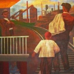 Detail from a Ben Shahn Depression era mural