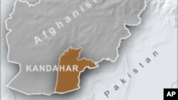 Peta wilayah Kandahar, Afghanistan Selatan