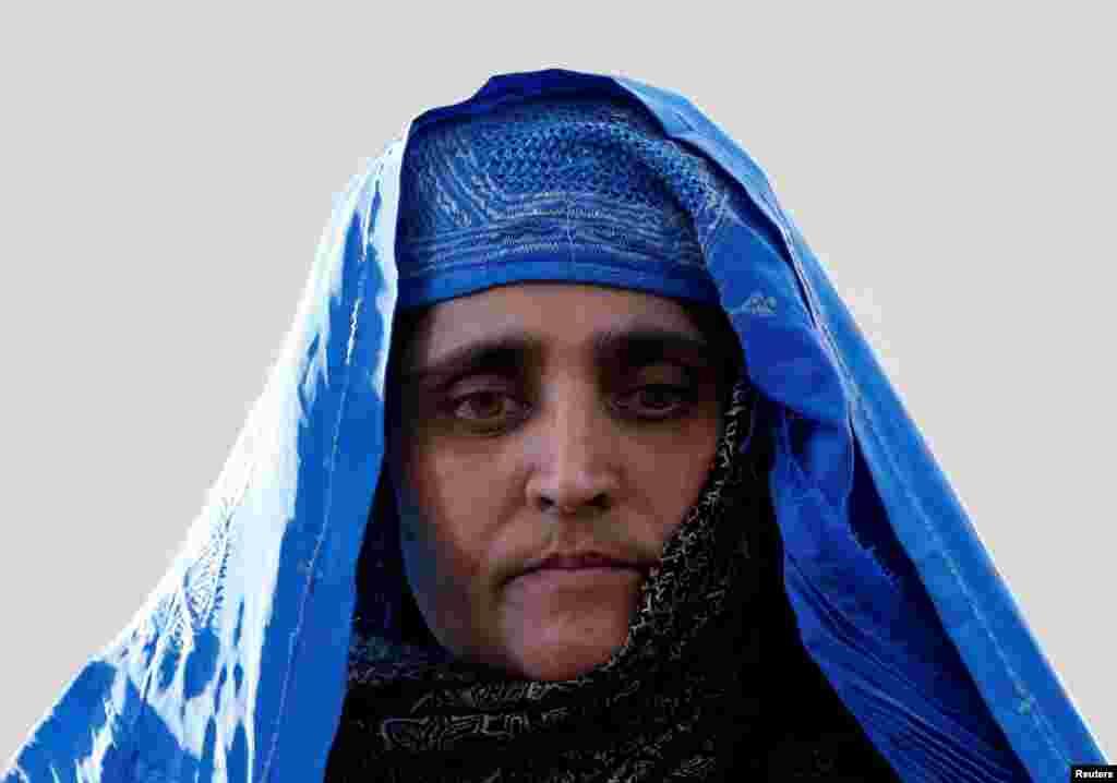 شربت گل، دختر چشم سبز که سه دهه پیش انتشار عکس او در نشریه نشنال جئوگرافیک توجه ها را به خود جلب کرده بود بعد از آزادی از زندان با اشرف غنی رئیس جمهور افغانستان دیدار کرد.