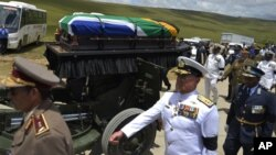 Nelson Mandela's Body Being Transported to his final resting place. AP