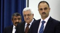 محمود عباس، رییس تشکیلات خودگردان فلسطینی در رام الله. ۲۵ مه ۲۰۱۱
