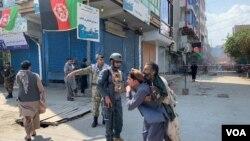 Ledakan di Nangarhar, Afghanistan, Senin (19/8).