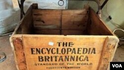 Shipping box for the encyclopaedia Britannica