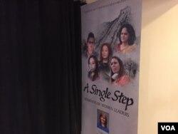 """A Single Step"" profiles five female champions of change who live in China, Japan, Fiji, India and Liberia. (Credit: Michael Lamon/VOA)"