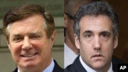 Paul Manafort, ancien directeur de campagne de Donald Trump, et Michael Cohen, ancien avocat personnel de Trump.
