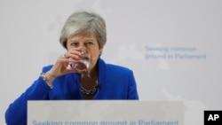 La Première ministre britannique Theresa May, lors d'un discours à Londres, le mardi 21 mai 2019.