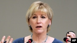 La ministre suédoise des Affaires étrangères, Margot Wallström