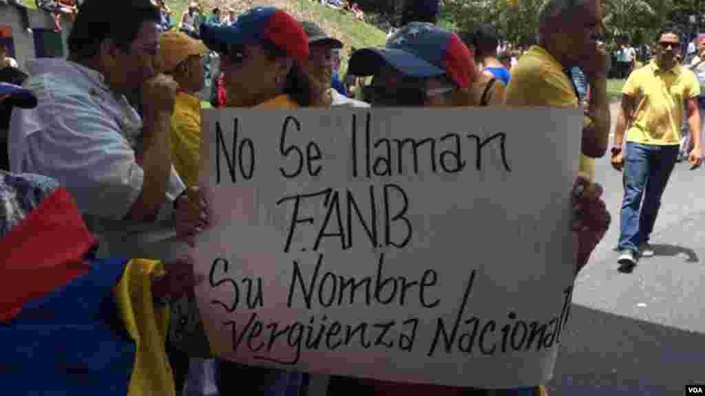 Cartel alusivo a la Fuerza Armada Bolivariana.