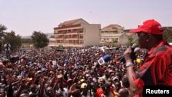 Kampeni ya Jubilee kwenye uwanja wa Homabay magharibi ya Kenya