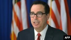 美國財政部長姆努欽資料照。