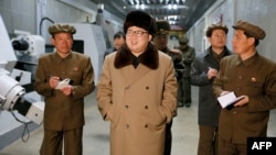 FILE - This photo released by the Korean Central News Agency on April 2, 2016, shows North Korean leader Kim Jong Un at the Tonghungsan Machine Plant in in South Hamgyong province. KCNA said April 9 that Kim had supervised a missile engine test that would strengthen the country's ability to stage nuclear strikes against the United States.