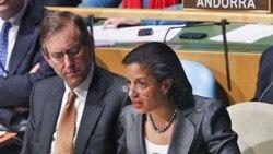 La embajadora ante Naciones Unidas Susan Rice llamó a suspender a Libia del Consejo de Derechos Humanos de la ONU.