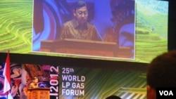 Wakil Presiden Boediono membuka Forum LPG Dunia 2012 di Bali. (VOA/Muliarta)