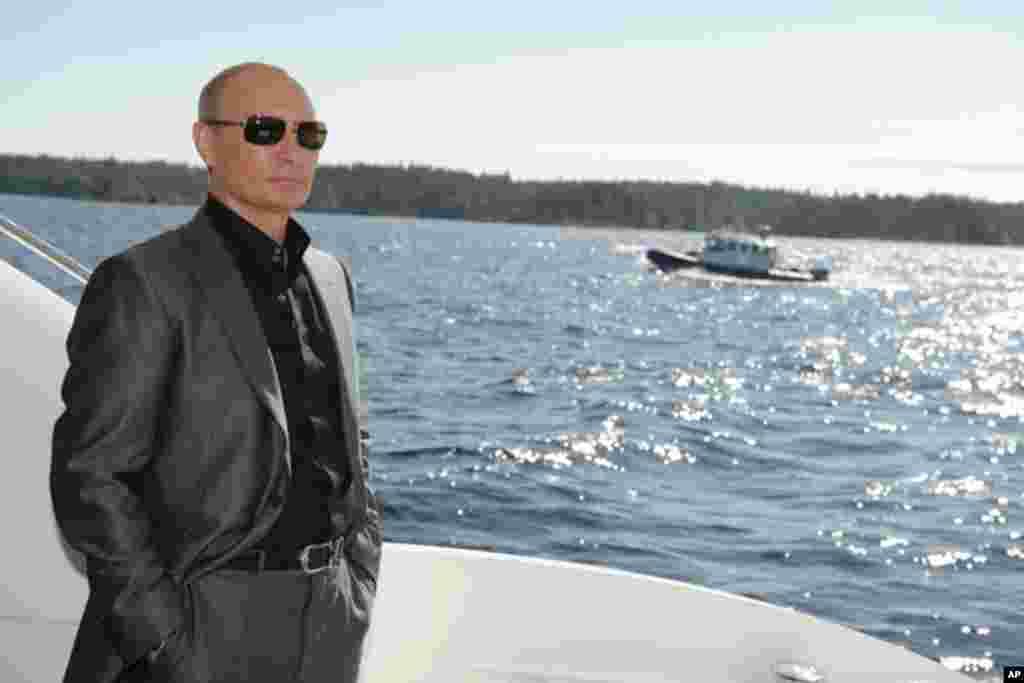 Putin At Valaam Monastery, August 14, 2011.
