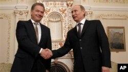 Саули Ниинистё и Владимир Путин