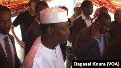 Perezida Idriss Deby ku kibanza co gutoreramwo co muri Disitirikite ya kabiri ya N'Djamena ku murwa Mukuru.