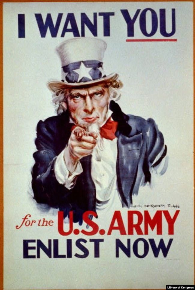 "Uncle Sam Poster ""I want you for U.S. Army: nearest recruiting station"" (Artist: James Montgomery Flagg, Published c1917)"