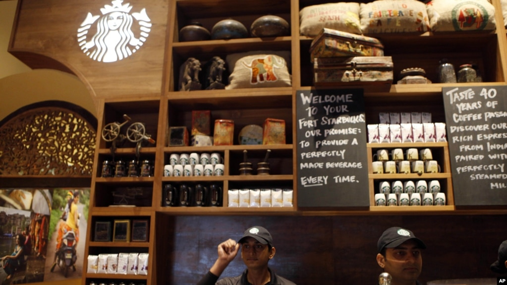 Starbucks Opens First Store in India