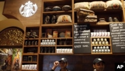 Pemerintah telah membuat aturan-aturan yang membatasi jumlah gerai yang dapat dikontrol oleh waralaba asing seperti Starbucks. (Foto: Dok)