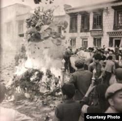 到文革结束之时,藏区99.9%的寺院被毁,数十万藏人非正常死亡。(泽仁多吉摄影 唯色提供)