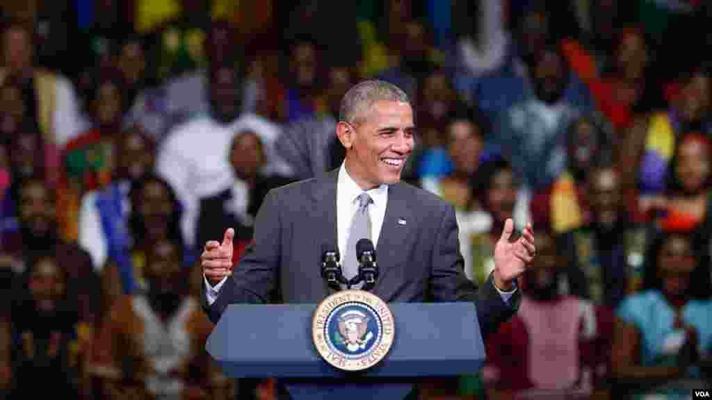 Le président Barack Obama lors de la conférence Yali 2016 avec les jeunes leaders africains, à Washington, 3 août 2016.