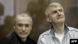 Михаил Ходорковский и Платон Лебедев 2 октября 2010
