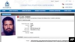 Za Fabienom Clainom je Interpol raspisao crvenu potjernicu