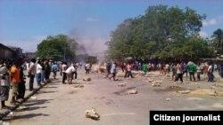 Sebuah demonstrasi di Zanzibar. (Foto: Dok)
