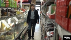 Los Angeles grocer Todd Khodadadi voices support for the protesters in Iran.