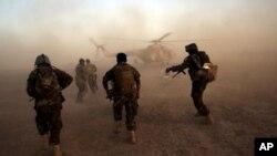 ارشیف: د میوند په قول اردو کې د افغان پوځیانو تمرین یوه څنډه.