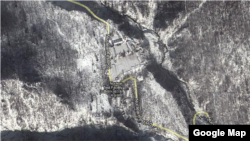 A screen grab of the Nuclear Test Facility site in North Korea via Google Maps satellite view.