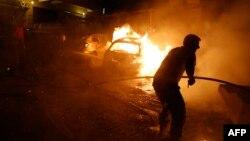 Attentat à la bombe dans le quartier Shiite Shayyah, juin 2014. Source: AFP