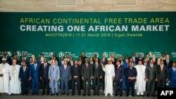 Líderes africanos assinam acordo em Kigali