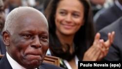 José Eduardo dos Santos, Presidente de Angola, e a sua filha Isabel dos Santos, na inauguração da nova Marginal de Luanda. Luanda, 28 Agosto 2012