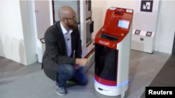 The GoCart Mini by Yujin can deliver food and medicine to patients in hospitals.