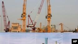 北京一处建筑工地外围