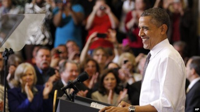 President Obama campaigning in Ohio
