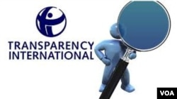 Logo Transparency International.