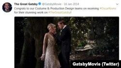 Твіт офіційної сторінки @GatsbyMovie