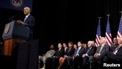 Presiden Obama hari Selasa (26/8) berpidato di depan organisasi veteran American Legion (foto: dok).