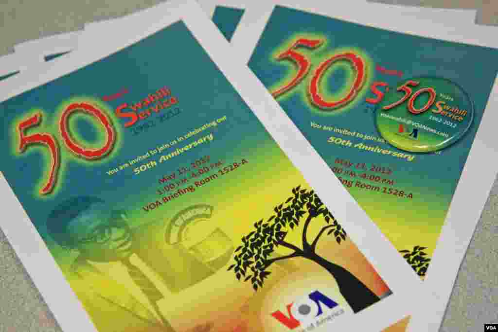 Swahili's 50th Anniversary Celebration Program & Pin