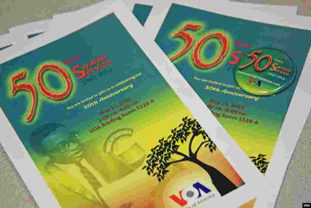 Swahili's 50th Anniversary Celebration Program & Pin