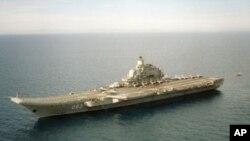 俄羅斯庫茲涅佐夫海軍上將號航母(資料圖片)