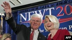 Republikanski predsednički pretendent Njut Gingrič odneo pobedu na primarnim izborima u Južnoj Karolini, Kolumbija, Južna Karolina, 21. januar, 2012.