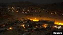 Une vue générale montre la ville de Berahile dans l'état d'Afar, en Éthiopie, le 23 avril 2013.
