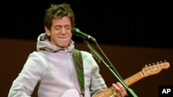 Lou Reed performing at the 2006 Winter Olympic Games in Turin, Italy.