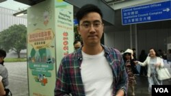 香港市民陳先生認為《基本法》23條立法是恐嚇言論自由。(美國之音特約記者 湯惠芸拍攝 )