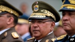 FILE - Venezuela's National Guard Commander Gen. Nestor Reverol attends a ceremony in Caracas, Venezuela, Dec. 17, 2015.